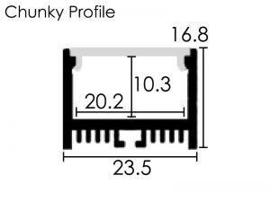 Chuncky Profile Dimensions