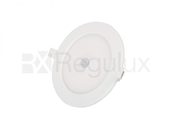 DL12-24S. LED Circular Recessed Panel with Sensor