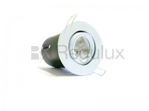 FRLRTG – Lock Ring Tilt Diecast Aluminium Fire-Rated GU10 Downlight