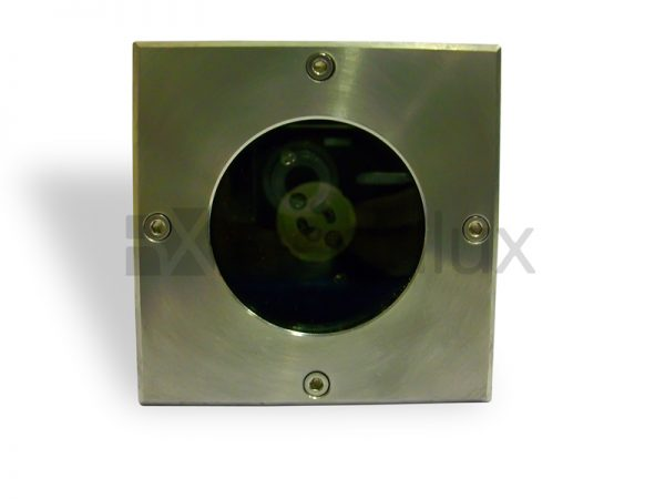 FOX2 Inground Uplight with Stainless Steel Square Face