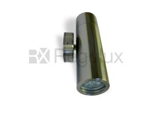 HAWK – Up Down Wall Spotlight 316 Marine Grade Satin Silver