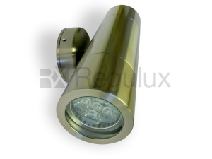 HAWK – Up Down Wall Spotlight 316 Marine Grade Satin Silver