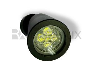 KESTRAL Adjustable Head Wall Spotlight Aluminium Black