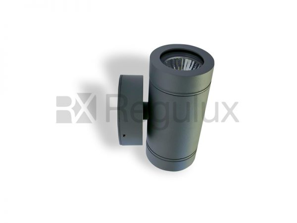 HAWK A Up & Down Spotlight Aluminium Grey