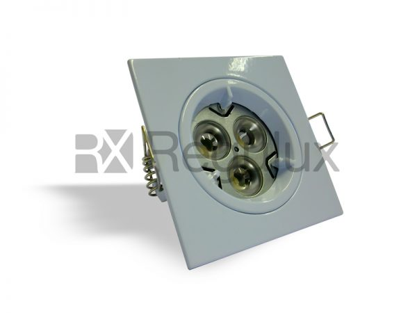 DLLRSQ - Fixed Lock Ring Square Diecast Downlight