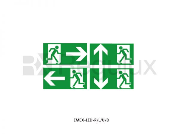 EMEX-LED. Up. Down. Left. Right Arrow Exit Legends
