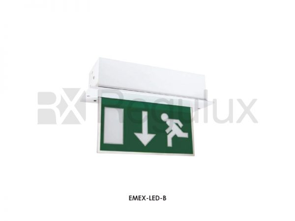 EMEX-LED-B. Down Arrow LED Exit Sign. 8w. 240v. IP65