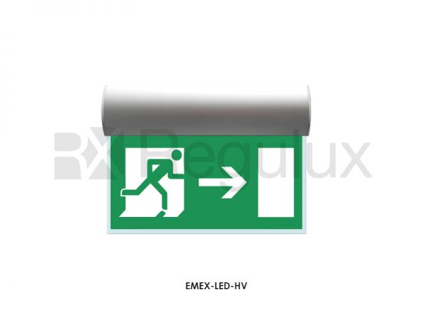 EMEX-LED-HV. LED High Vision Exit Sign & Bulkhead. Maintained. 1.2w