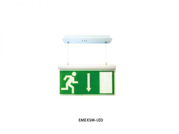 EMEXSM-LED. LED Suspended Exit Sign. 18 SMD. Surface Mounted. 3w. 110Lm