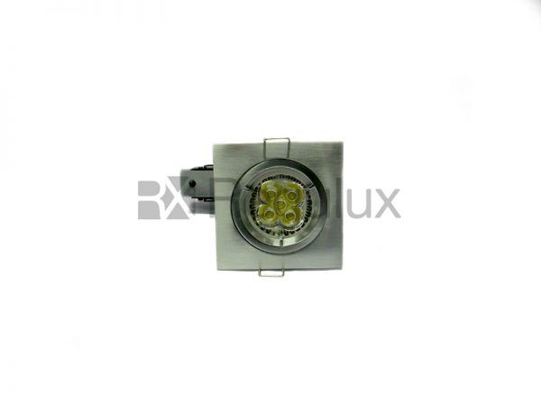 FRSQF – Square Fixed Diecast Aluminium Fire-Rated Downlight