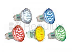 LEDGU10 1.5w LED Lamp Red/Green/Blue/Yellow & White