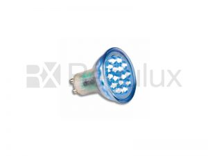 LEDGU10B - LED Lamp GU10 15 LEDs 1.5w Blue
