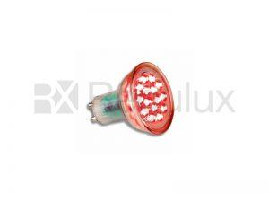 LEDGU10R - LED Lamp GU10 15 LEDs 1.5w Red