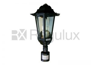 Victorian Black Lantern – Up Lighter with PIR Sensor