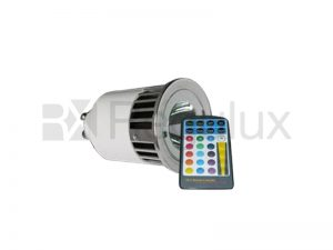 SPECTRA/GU10. Spectraled 5w GU10 Lamp with Remote Control