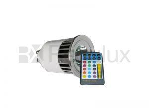 SPECTRA/GU10. Spectraled 5w GU10 Lamp with Remote Control