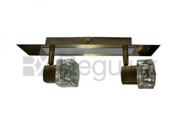 TarkaSpot2 – Ice Cube Glass Shade Wallbar x2