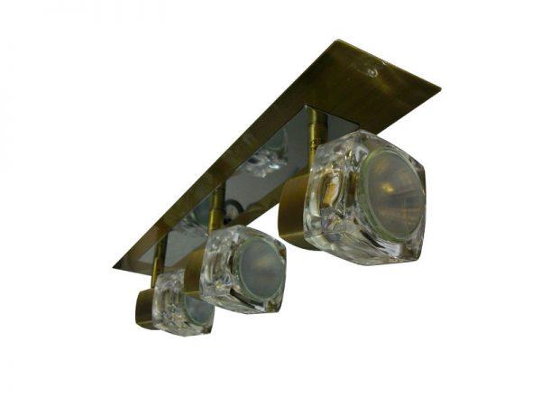 TarkaSpot3 – Ice Cube Glass Shade Wallbar x3